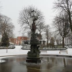 La fontaine et le parc Saint Pierre