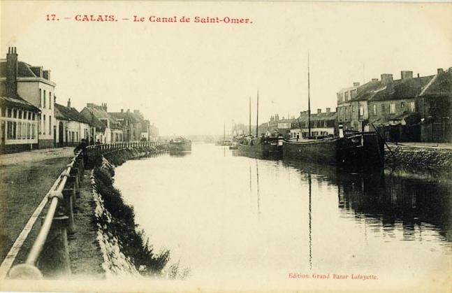 Calais canal de saint omer peniche batellerie