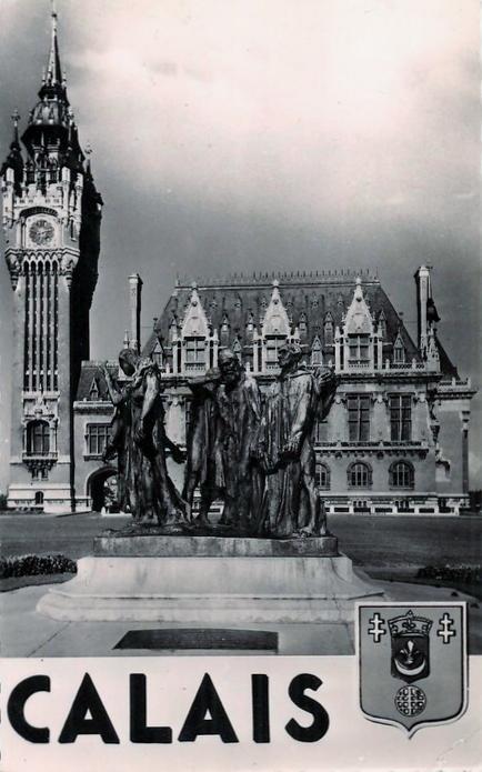 Calais en 1950 l'hotel de ville