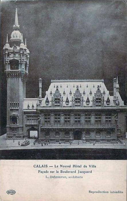Calais maquette de l'hotel de ville