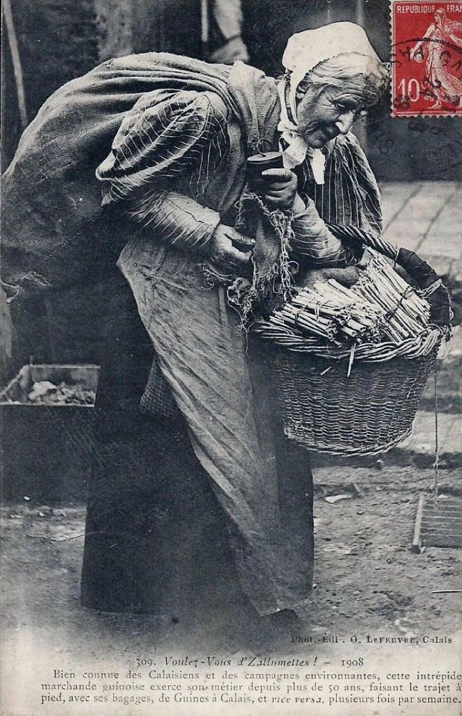 Calais marchande d'allumettes