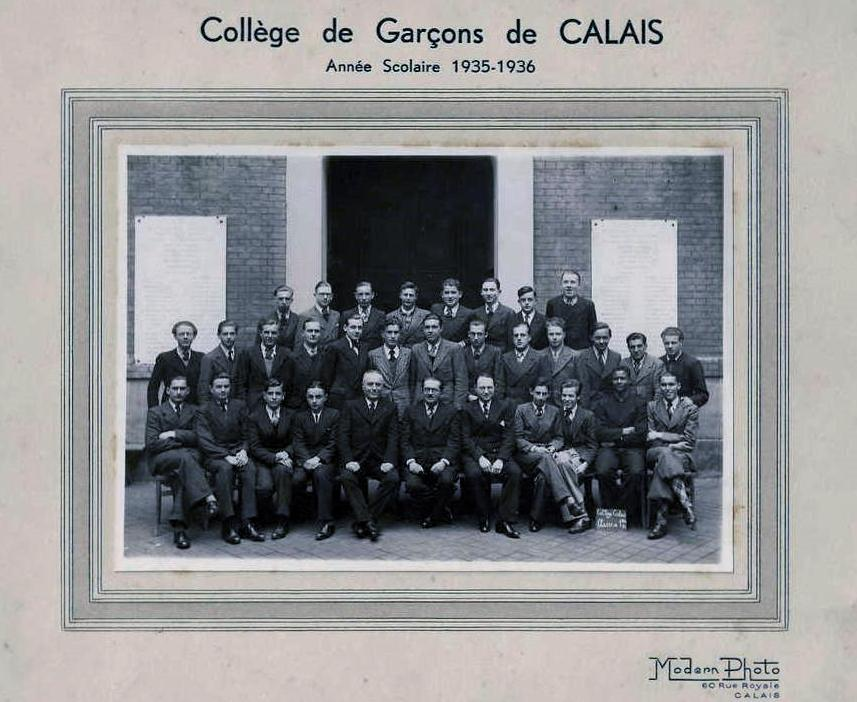 Calais photographie de classe 1936