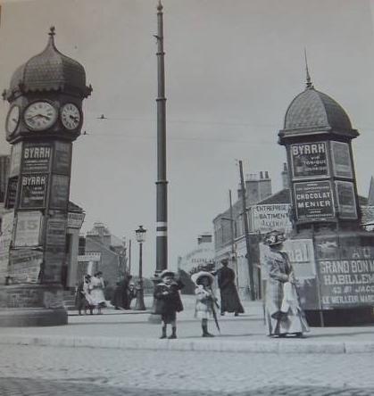 Photographie ancienne de Calais l'horloge