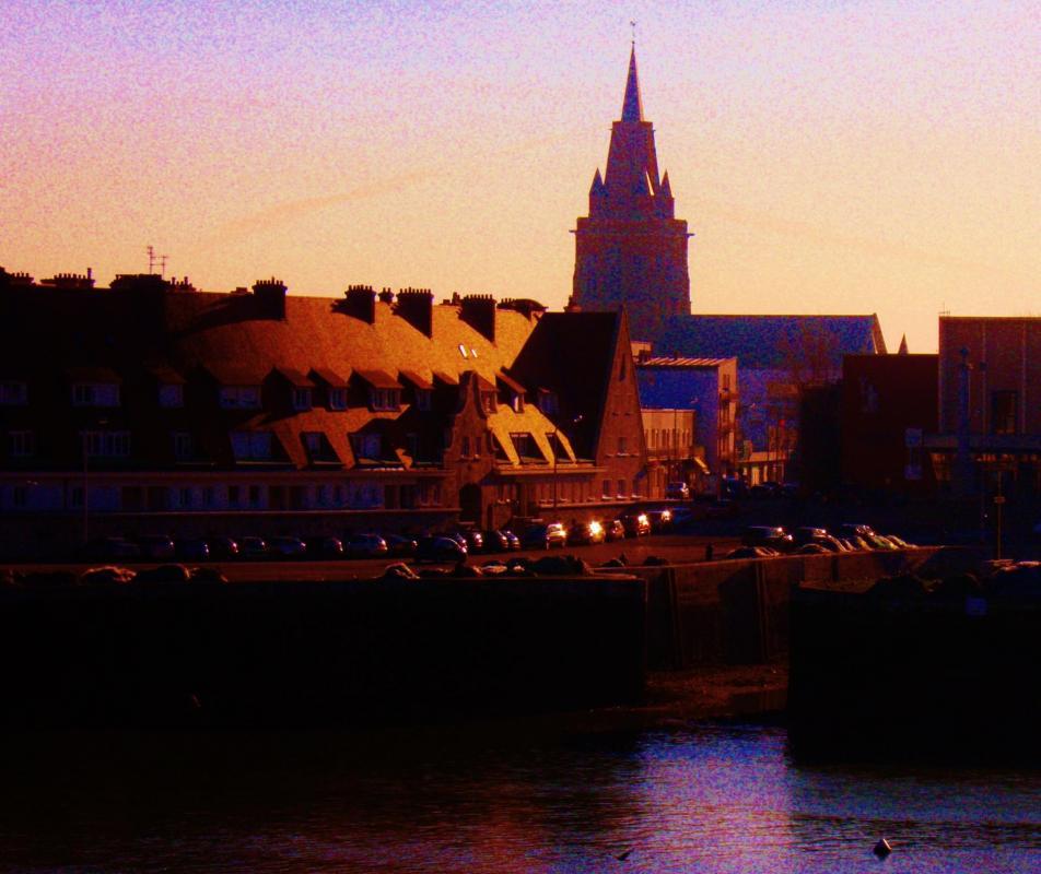 photo Calais le port et le vieux bassin du paradis