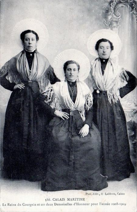 Calais matelotes courguinoises reines du courgain en 1908