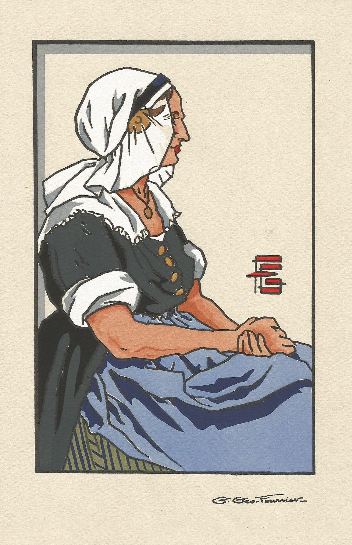 Georges géo fourrier femme de Condé sur Escault