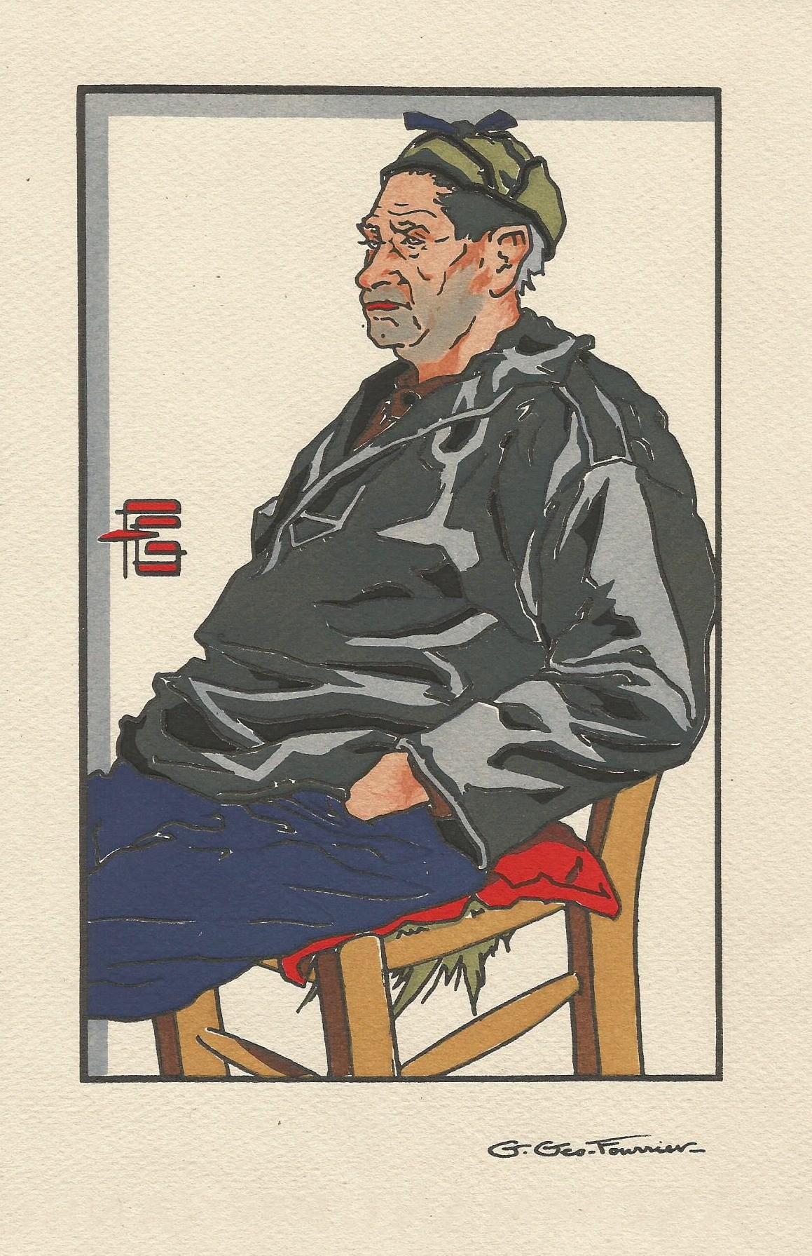 Georges Géo Fourrier vieux pêcheur d'Equihen
